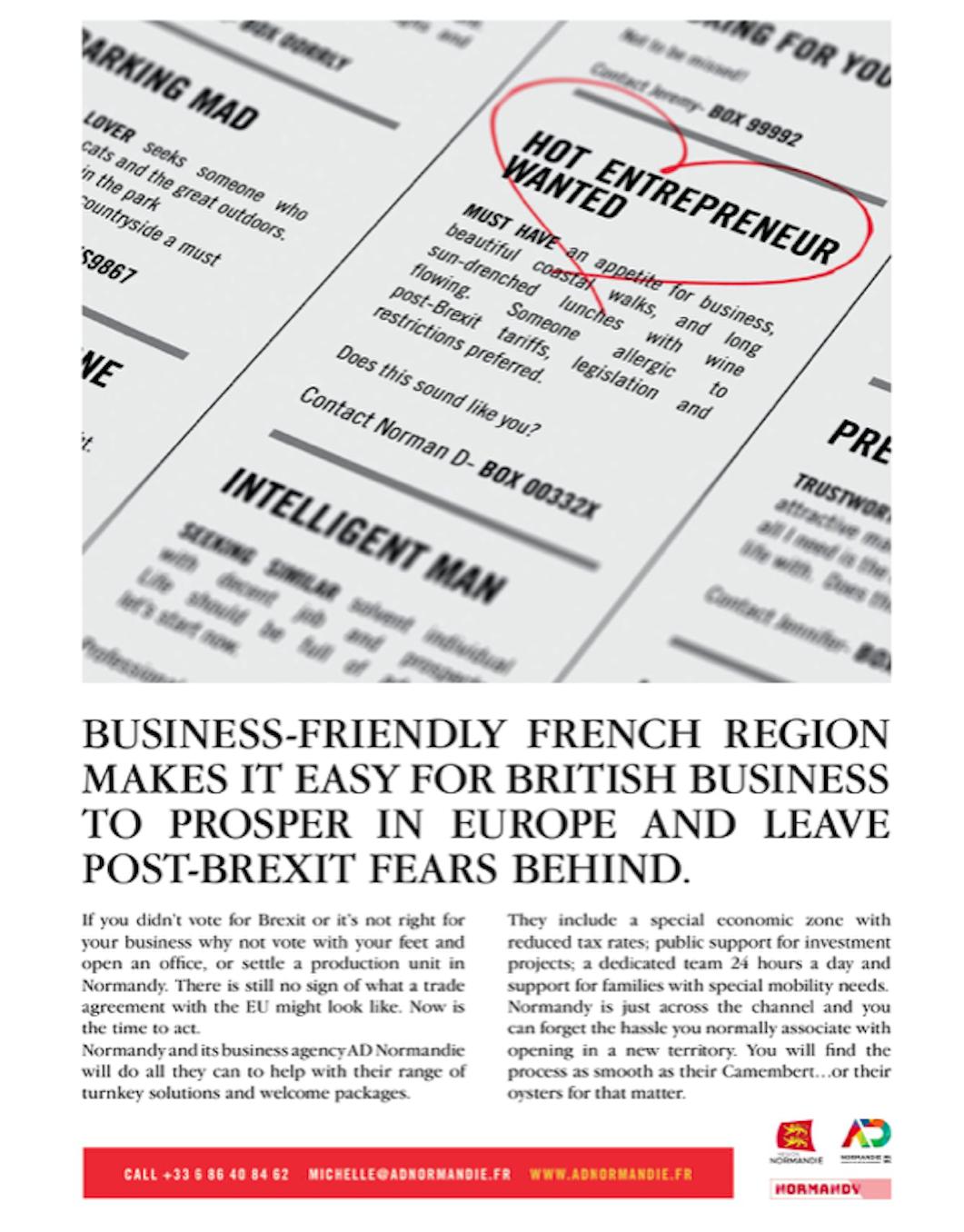 publicité Normandie