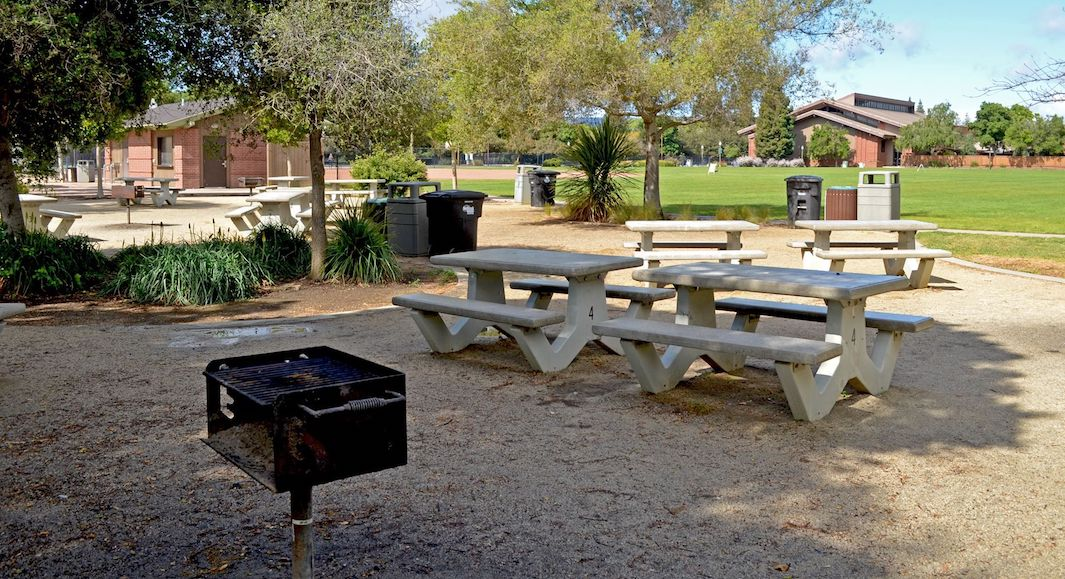 La zone de barbecue dans Burgess Park©pinterest